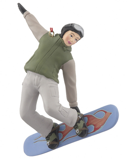 Snowboarder Boy - Green Jacket