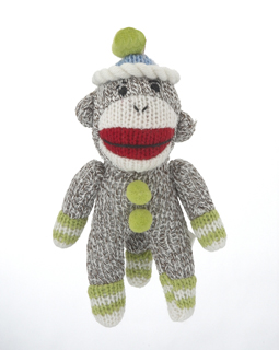 Sock Monkey - Green