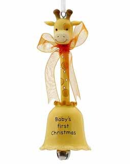 Animal Baby Bell - Yellow Giraffe