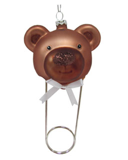 Teddy Bear Diaper Pin