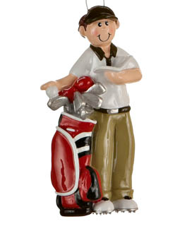 Male Golfer with Golfbag
