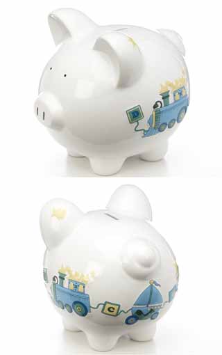 Large Duck Train Piggy Bank