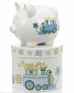 Mini Duck Train Piggy Bank