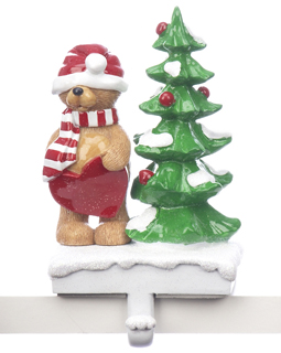 Bear Stocking Holder - Bear With Hat Over Eyes