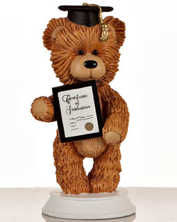 Graduation Bear Figurine
