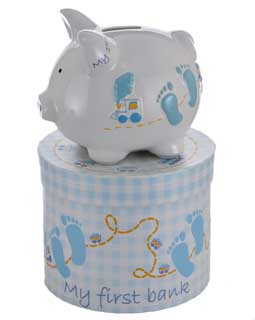 Mini Baby Boy Piggy Bank