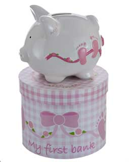 Mini Baby Girl Piggy Bank
