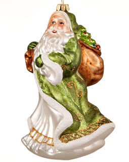 Santa with Sack of Presents - Green