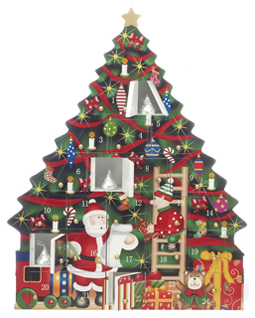 Santa Tree Advent Box