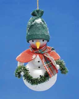 Snowman with Garland