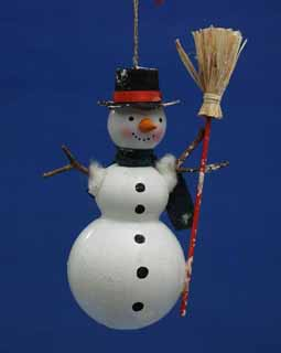 Snowman with Broomstick in his Hand