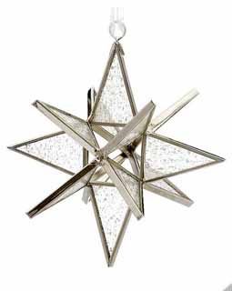 Clear Seedy Stained Glass Star