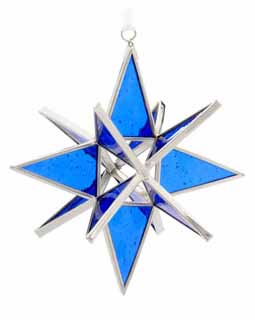 Dark Blue Cathedral Stained Glass Star