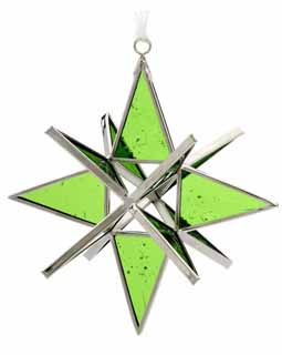 Light Green Cathedral Stained Glass Star