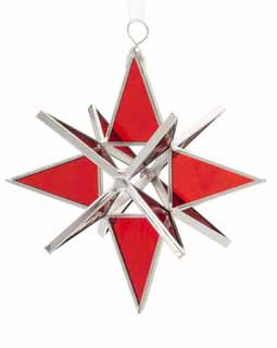 Red Cathedral Stained Glass Star
