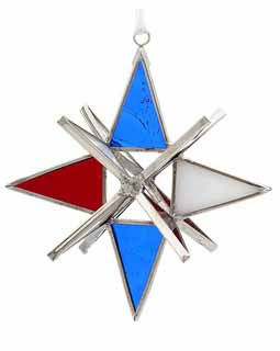 Patriotic Cathedral Stained Glass Star