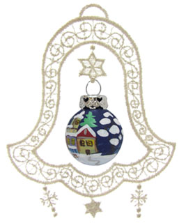 Bell Lace Ornament Village