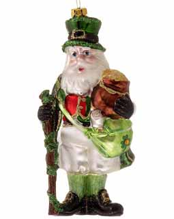 Irish Santa Holding A Pot Of Gold