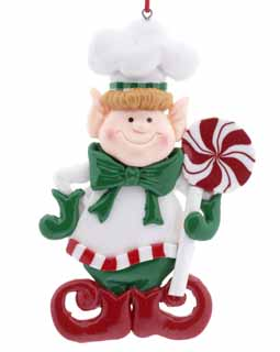 Chef Elf Holding A Lollipop