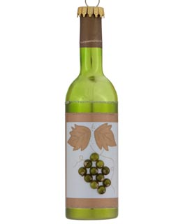 Chardonnay Wine Bottle Personalized Christmas Ornament