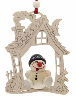 House - Black Hat Snowman