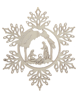 snowflake with Nativity Scene Christmas-Ornaments.com