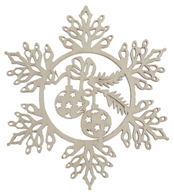 Snowflake with Ornaments