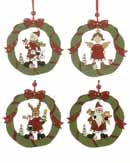 Hanging Wooden Wreath - Set of 3