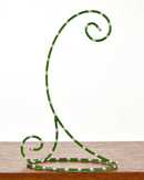 Green & White Ornament Stand