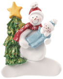 Single Snowman with Baby Boy in Blanket