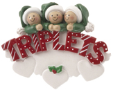 Baby's 1st Christmas Ornaments for Twins and Triplets