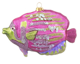 Aloha Fish - Pink with Sequins