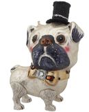 Pug in a Top Hat Ornament