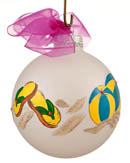 Made in the USA Glass Christmas Ornaments