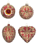 Red Ornaments - Set of 4