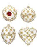White Ornaments - Set of 4