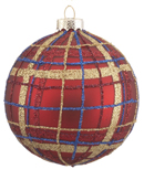 Red and Blue Plaid Ball