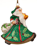 Trumpeting Santa - Holly Berry Green