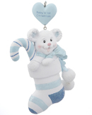 Baby's 1st Christmas Bear - Blue