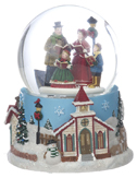 Large Snow Globe - Carolers