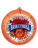 Concave Reflector Glass Basketball Ornament