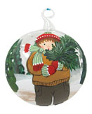 Kids Glass Ball Christmas- Children's Glass Ball Ornaments
