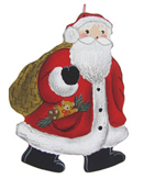 Santa with Teddy in Pocket