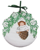 Pinecone Girl with Green Garland