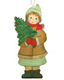 Wintergirl with Little Fir Tree