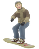 Snowboarder Boy - Tan Jacket