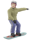 Snowboarder Girl - Green Jacket
