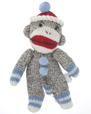 Sock Monkey - Blue