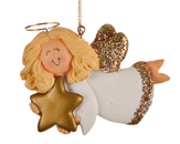 Angel with Gold Star - Girl