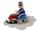 Ski Ornaments - Skiing Christmas Ornaments - Snowboarding Ornam...
